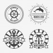 Set of sea and summer nautical signs, badges and labels. Vector  — Stock Vector #69948763