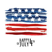 Happy 4th of July, USA Independence Day. Vector abstract grunge  — Stock Vector