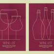 Set of abstract line illustration, three wine glass and bottles — Stock Vector #77448278