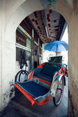 Red Trishaw,street Jalan Sehala ,George Town — Stock Photo