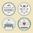 Valentine's day and romantic badges set — Stock Vector #62431287
