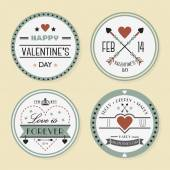 Valentine's day and romantic badges set — Stockvector