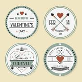Valentine's day and romantic badges set — Wektor stockowy