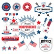 American Happy Independence Day design elements set — Stock Vector #74818119