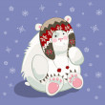 Polar bear cub — Stock Vector #52410407