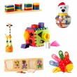 Collection of toys for young children isolated on white background — Photo #73571537