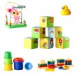 Collection of toys for young children isolated on white background — Foto Stock #73571581