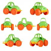 Isolated children toy car. different angles — Stock Photo