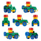 Isolated children toy car SUV. different angles — Stock Photo