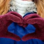 Hands winter snow — Stock Photo #63733467