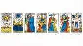 Tarot card draw — Stock Photo