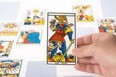 Draw tarot : The Fool — Stock Photo