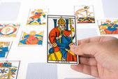 Draw tarot : The Pope — Stock Photo