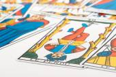 Clairvoyance tarot cards — Stock Photo