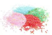 Background of granules of PVC — Foto de Stock