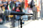 Mikrofon händelse — Stockfoto