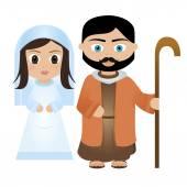 Mary and Joseph — Stock Vector