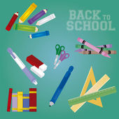 Objets de l'école — Vecteur