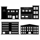 Buildings Silhouettes — Stock Vector