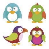 Uccelli — Vettoriale Stock