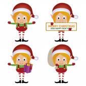 Cute Elfs — Stock Vector