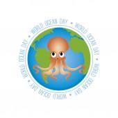 세계 바다의 날 — Stockvector