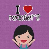 Giorno dell'insegnante — Vettoriale Stock