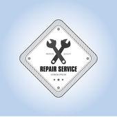 Etichetta di riparazione — Vettoriale Stock