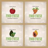 Organik gıda — Stok Vektör
