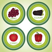 Fruits labels — Stock Vector