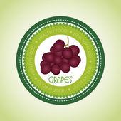 Grape label — Stock Vector