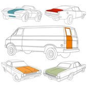Car Vectors. Set — Stock Vector