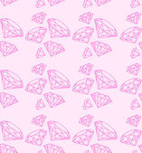 Seamless pattern with swag pink diamonds — Vecteur