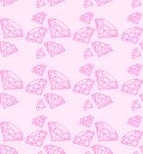 Seamless pattern with swag pink diamonds — ストックベクタ