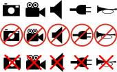 Different prohibitions — Stock Photo