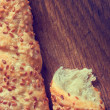 Wheat bread with sesame on a board — Stock Photo #58850171