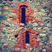 Stone wall of an old castle — Stock Photo
