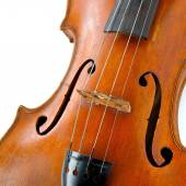 Close up of old wooden violin — Stock Photo