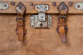 Old travelling trunk — Stock Photo