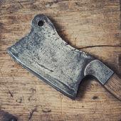 Old kitchen hatchet — Stock Photo