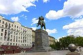Yury Dolgoruky Monument on the square — Stock Photo