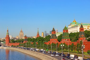Panorama towers and buildings of the Moscow Kremlin