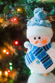 Little Christmas snowman — Stock Photo