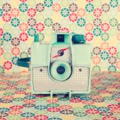 Turquoise Retro Camera — Stock Photo