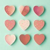 Painted wood hearts — Φωτογραφία Αρχείου