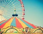 Carousel duiing Summer Carnival — Stock Photo