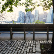 Brooklyn heights benches — Stock Photo #77587600