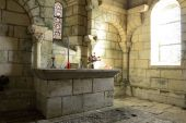 Merlande priory, indoor — Zdjęcie stockowe