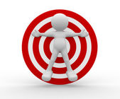 Human character icon with target — Stock Photo