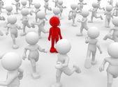 Human character leadership and team — Stock Photo